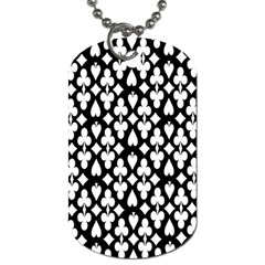 Dark Horse Playing Card Black White Dog Tag (one Side) by Mariart