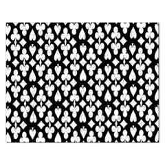 Dark Horse Playing Card Black White Rectangular Jigsaw Puzzl by Mariart