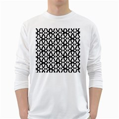 Dark Horse Playing Card Black White White Long Sleeve T Shirts by Mariart