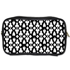 Dark Horse Playing Card Black White Toiletries Bags by Mariart