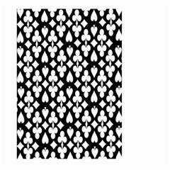 Dark Horse Playing Card Black White Large Garden Flag (two Sides) by Mariart