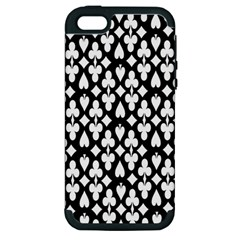Dark Horse Playing Card Black White Apple Iphone 5 Hardshell Case (pc+silicone) by Mariart