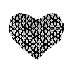 Dark Horse Playing Card Black White Standard 16  Premium Heart Shape Cushions by Mariart