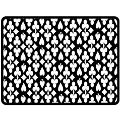 Dark Horse Playing Card Black White Double Sided Fleece Blanket (large)  by Mariart