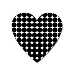 Dotted Pattern Png Dots Square Grid Abuse Black Heart Magnet by Mariart