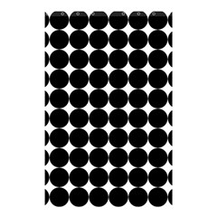 Dotted Pattern Png Dots Square Grid Abuse Black Shower Curtain 48  X 72  (small)  by Mariart