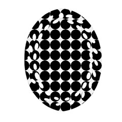 Dotted Pattern Png Dots Square Grid Abuse Black Oval Filigree Ornament (two Sides) by Mariart