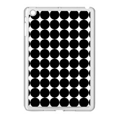 Dotted Pattern Png Dots Square Grid Abuse Black Apple Ipad Mini Case (white) by Mariart