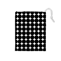Dotted Pattern Png Dots Square Grid Abuse Black Drawstring Pouches (medium)  by Mariart