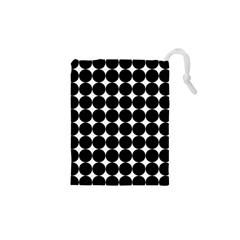 Dotted Pattern Png Dots Square Grid Abuse Black Drawstring Pouches (xs)  by Mariart