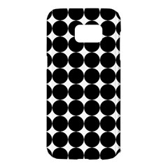 Dotted Pattern Png Dots Square Grid Abuse Black Samsung Galaxy S7 Edge Hardshell Case by Mariart