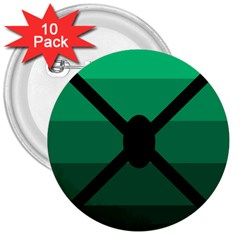 Fascigender Flags Line Green Black Hole Polka 3  Buttons (10 Pack)  by Mariart