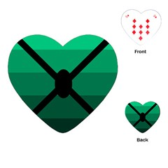 Fascigender Flags Line Green Black Hole Polka Playing Cards (heart)  by Mariart