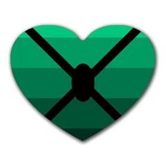 Fascigender Flags Line Green Black Hole Polka Heart Mousepads by Mariart