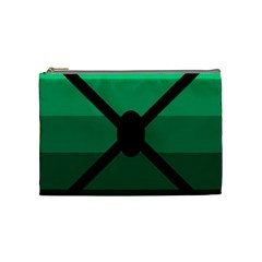 Fascigender Flags Line Green Black Hole Polka Cosmetic Bag (medium)  by Mariart