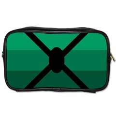 Fascigender Flags Line Green Black Hole Polka Toiletries Bags 2 Side by Mariart