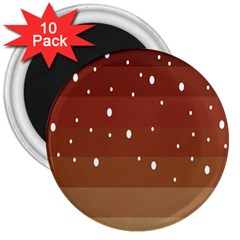 Fawn Gender Flags Polka Space Brown 3  Magnets (10 Pack)