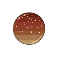 Fawn Gender Flags Polka Space Brown Hat Clip Ball Marker (10 Pack) by Mariart