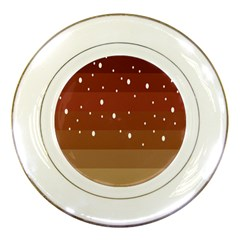 Fawn Gender Flags Polka Space Brown Porcelain Plates by Mariart