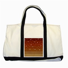 Fawn Gender Flags Polka Space Brown Two Tone Tote Bag by Mariart