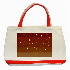 Fawn Gender Flags Polka Space Brown Classic Tote Bag (red) by Mariart