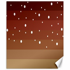 Fawn Gender Flags Polka Space Brown Canvas 20  X 24   by Mariart