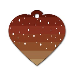 Fawn Gender Flags Polka Space Brown Dog Tag Heart (one Side) by Mariart