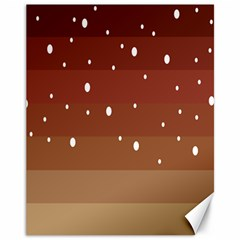 Fawn Gender Flags Polka Space Brown Canvas 11  X 14   by Mariart