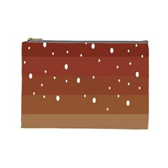 Fawn Gender Flags Polka Space Brown Cosmetic Bag (large)  by Mariart