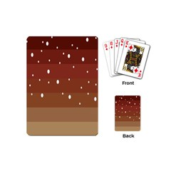 Fawn Gender Flags Polka Space Brown Playing Cards (mini)  by Mariart