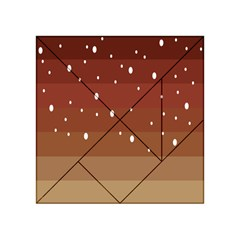 Fawn Gender Flags Polka Space Brown Acrylic Tangram Puzzle (4  X 4 ) by Mariart