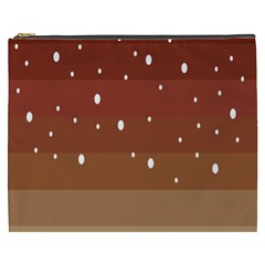Fawn Gender Flags Polka Space Brown Cosmetic Bag (xxxl)  by Mariart