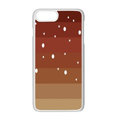Fawn Gender Flags Polka Space Brown Apple Iphone 7 Plus White Seamless Case by Mariart