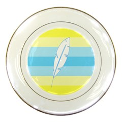 Feather Flags Porcelain Plates by Mariart