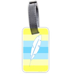 Feather Flags Luggage Tags (one Side)  by Mariart