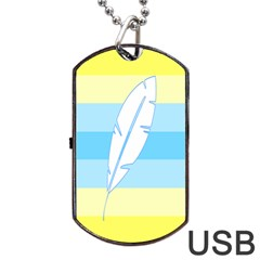 Feather Flags Dog Tag Usb Flash (two Sides) by Mariart