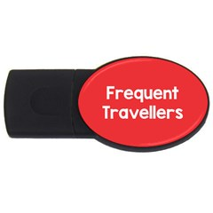 Frequent Travellers Red Usb Flash Drive Oval (4 Gb) by Mariart