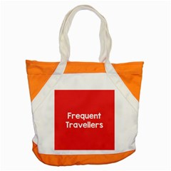 Frequent Travellers Red Accent Tote Bag by Mariart