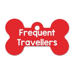 Frequent Travellers Red Dog Tag Bone (one Side) by Mariart