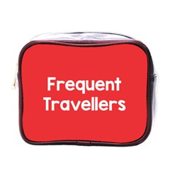 Frequent Travellers Red Mini Toiletries Bags by Mariart