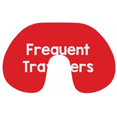 Frequent Travellers Red Travel Neck Pillows by Mariart