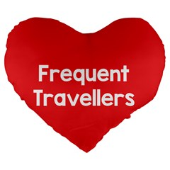 Frequent Travellers Red Large 19  Premium Flano Heart Shape Cushions by Mariart