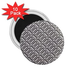 Capsul Another Grey Diamond Metal Texture 2 25  Magnets (10 Pack)