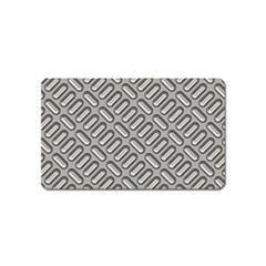 Capsul Another Grey Diamond Metal Texture Magnet (name Card) by Mariart
