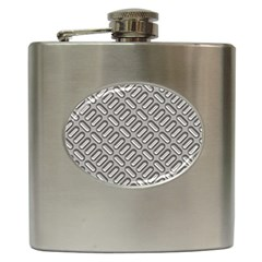Capsul Another Grey Diamond Metal Texture Hip Flask (6 oz) by Mariart