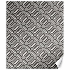 Capsul Another Grey Diamond Metal Texture Canvas 20  X 24   by Mariart