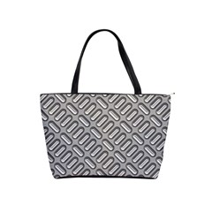 Capsul Another Grey Diamond Metal Texture Shoulder Handbags by Mariart
