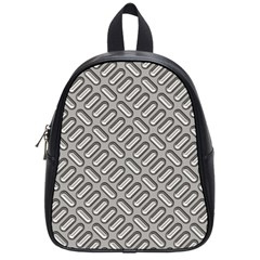 Capsul Another Grey Diamond Metal Texture School Bags (small)  by Mariart