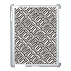 Capsul Another Grey Diamond Metal Texture Apple Ipad 3/4 Case (white) by Mariart