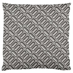 Capsul Another Grey Diamond Metal Texture Large Flano Cushion Case (two Sides) by Mariart
